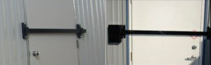 Steel Cross Bar Door Locks - Evergreen Machine - Portland OR