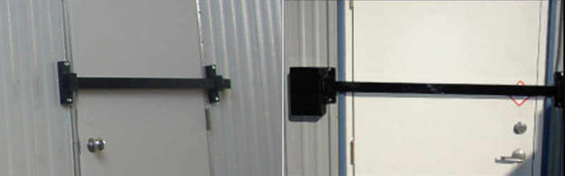 Crossbar door lock evergreen hatch works for Front door security bar