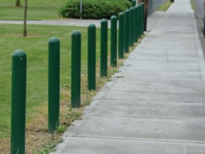 Steel Bollard Posts - Evergreen Machine Works - Portland OR