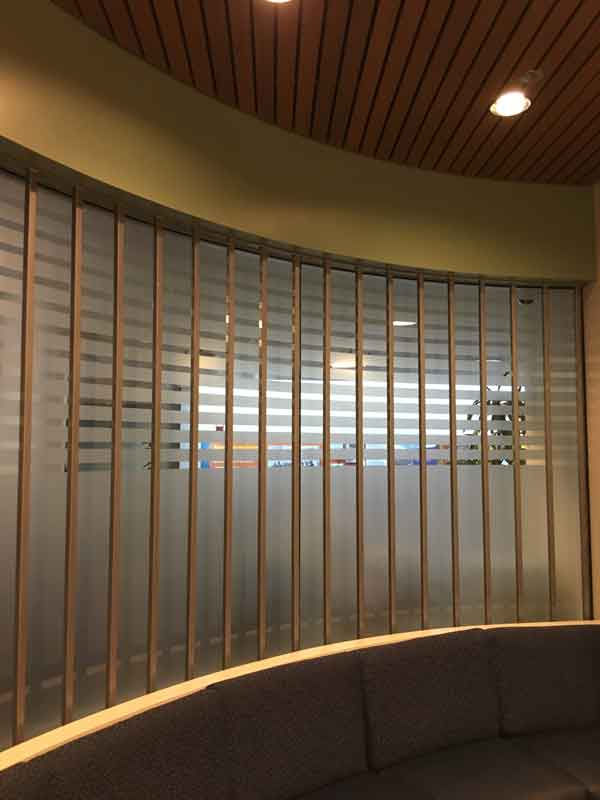 Kaiser pharmacy curved security bars for windows