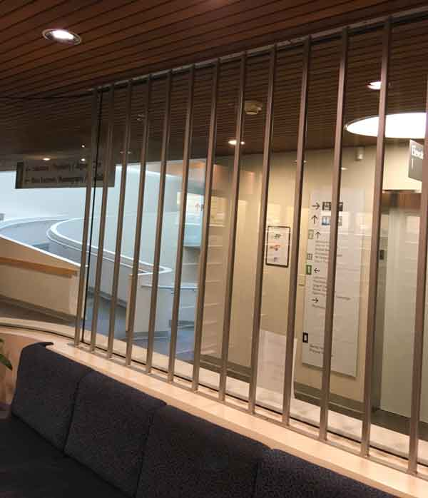 Custom window bars installed at Kaiser pharmacy in Beaverton