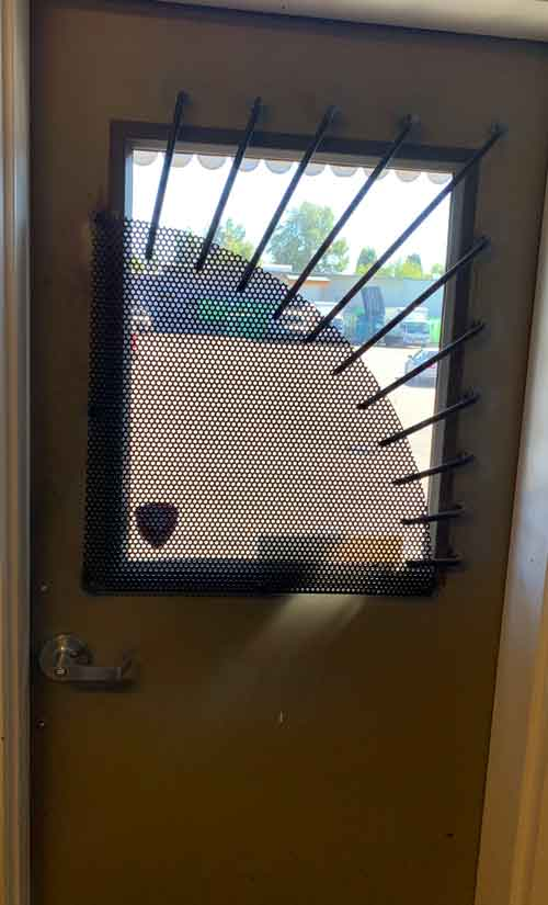 Screened security door by Evergreen Machine Works