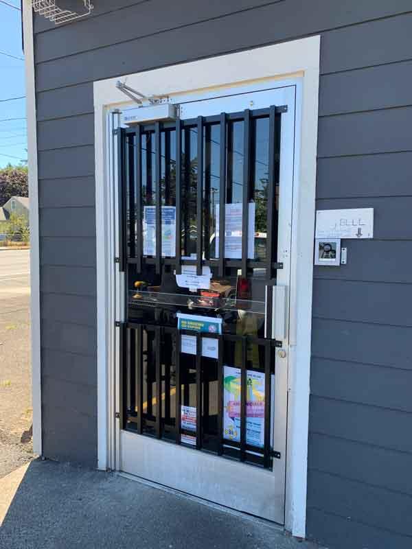 Steel bars for door security