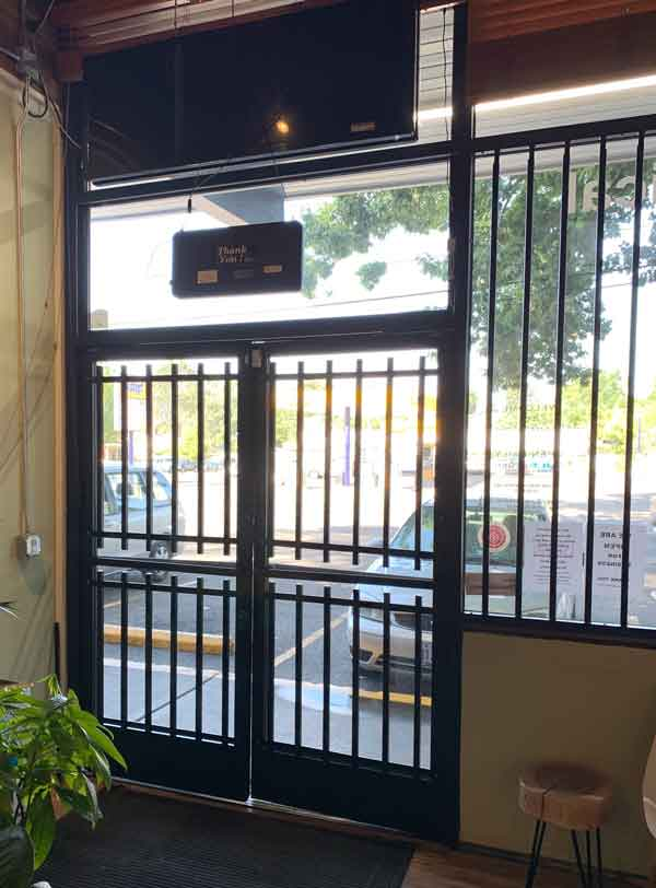 Security steel bars on doors and window