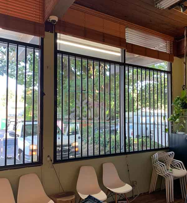 Security steel bars on windows